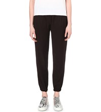 Clu Tapered Silk And Cotton Blend Trousers Black