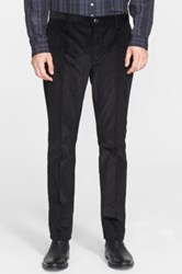 John Varvatos 'Moto City' Corduroy Pants Black