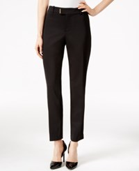 Charter Club Extended Tab Ankle Pants Only At Macy's Deep Black