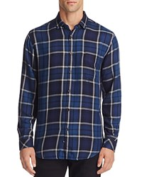 Rails Lennox Plaid Slim Fit Button Down Shirt Navy Night