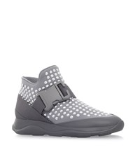 Christopher Kane High Top Studded Neoprene Sneakers Female Silver