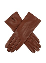 Dents Ladies Silk Lined Leather Glove Cognac