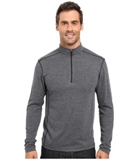 Merrell Geom 1 2 Zip Tech Tee Black Heather Men's Long Sleeve Pullover