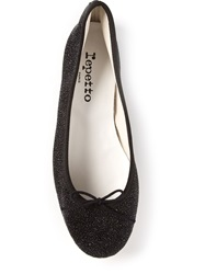 Repetto Bow Detail Glitter Ballerina Black