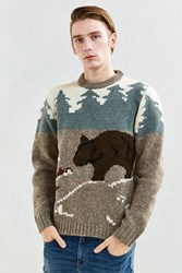 Woolrich Outdoor Bear Motif Sweater Grey