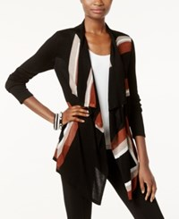Inc International Concepts Petite Draped Colorblocked Cardigan Only At Macy's Rawhide