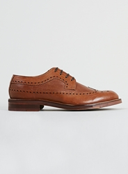 Topman Ben Sherman Aine Tan Leather Longwing Brogues Brown