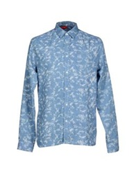 Red Collar Project Shirts Azure