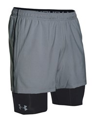 Under Armour Ua Mirage 2 In 1 Training Shorts Steel