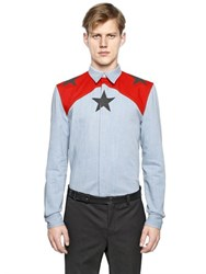 Givenchy Stars Printed Cotton Denim Shirt