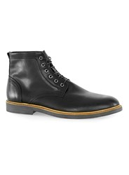 Topman Black Leather Lace Up Boots