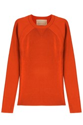 Jason Wu Ribbed Pullover Orange