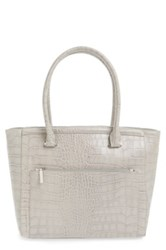 Halogen 'Pine Street' Textured Leather Tote Gray