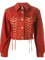Jean Paul Gaultier Vintage Corset Style Jacket Red