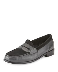Cole Haan Fairmont Leather And Suede Loafer Magnet