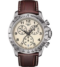 Tissot T106.417.16.262.00 V8 Stainless Steel And Leather Chronograph Watch