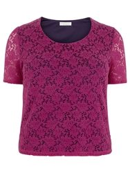 Windsmoor Floral Lace Top Mid Pink