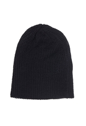 Forever 21 Slouchy Waffle Knit Beanie Black