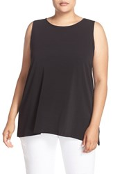 Vince Camuto Plus Size Women's Sleeveless Crepe High Low Top
