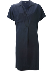 Stills Loose Fit Shirt Dress Blue