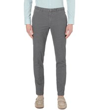 Hugo Boss Leisure Slim Fit Tapered Stretch Cotton Trousers Black