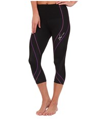 Cw X Pro 3 4 Tight Black Light Purple Purple Women's Workout