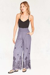 Ecote Analeigh Embroidered Pull On Pant Blue