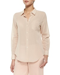 Theory Perfect Long Sleeve Voile Blouse