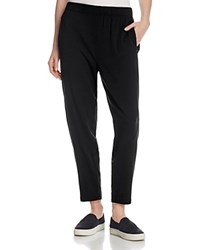 Eileen Fisher Petites Tapered Slouchy Ankle Sweatpants Black