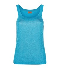 Missoni Metallic Lurex Knit Tank Top Female Blue