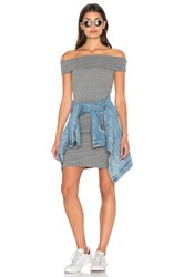Pam And Gela Off Shoulder Dress Gray