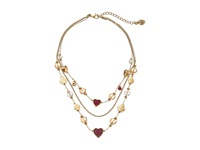 Betsey Johnson Casino Royale Pink And Gold Bead Illusion Necklace Pink Necklace