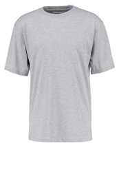 Your Turn Basic Tshirt Grey Melange Mottled Grey