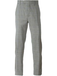 Oamc Checked Trousers Grey