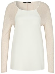 Oui Long Sleeve Jersey Top White Pearl
