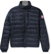 Canada Goose Lodge Packable Quilted Ripstop Down Jacket Navy