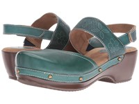 Spring Step Amadi Teal Women's Clog Mule Shoes Blue