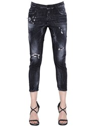 Dsquared Tidy Washed And Destroyed Denim Jeans