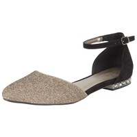 John Lewis Belle Two Part Pumps Black Gold