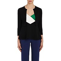 Lisa Perry Women's Bolero Cardigan Black Blue Black Blue