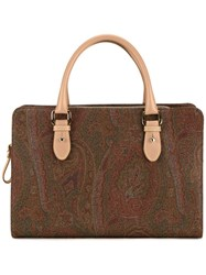 Etro Medium Double Handles Tote Brown
