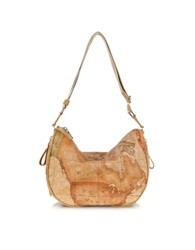 Alviero Martini Everyday Geo Classic Soft Shoulder Bag Brown