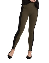 Spanx Textured Panel Leggings Olive
