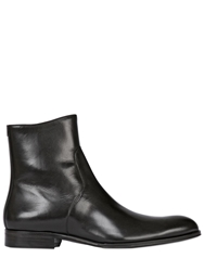 Mr Hare Zip Up Leather Chelsea Boots Black