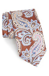 J.Z. Richards Men's Paisley Silk Tie Brown