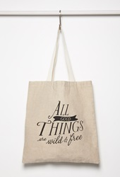 Forever 21 All Good Things Shopper Tote Tan Black