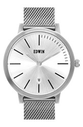 Men's Edwin 'Kenny' Mesh Strap Watch 40Mm