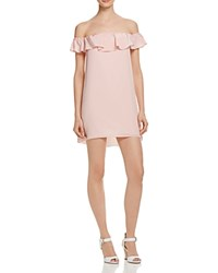 Amanda Uprichard Joanna Off The Shoulder Dress Dusty Rose