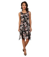 Unique Vintage Hemingway Flapper Dress Black Floral Print Women's Dress
