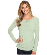 Royal Robbins Essential Tencel Cowl Neck Agave Women's Long Sleeve Pullover Green